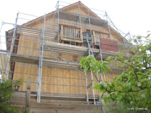 Trockeneis gereinigte Fassade