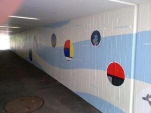 Graffitischutz wurde über Graffiti beschichtet