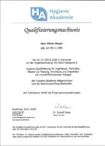 Qualifizierungsnachweis Lüftung